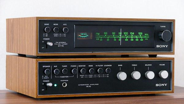 Stereo, Vintage, Audio, Music, Sound