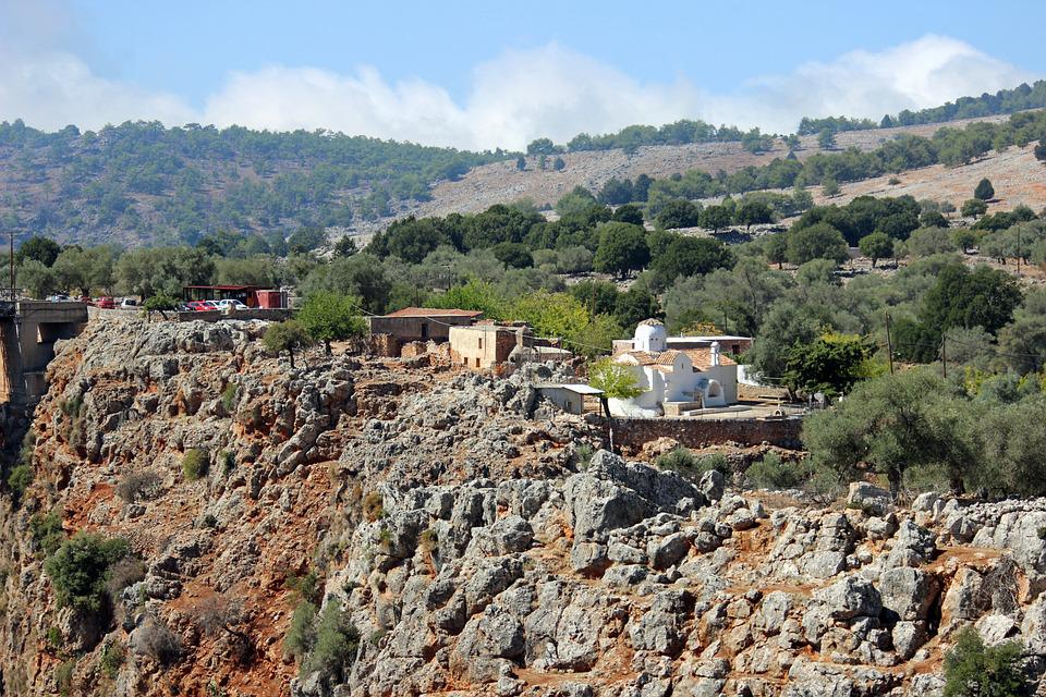 Aradena, Templom Archangelos, Görög, Távoli, Sziklák