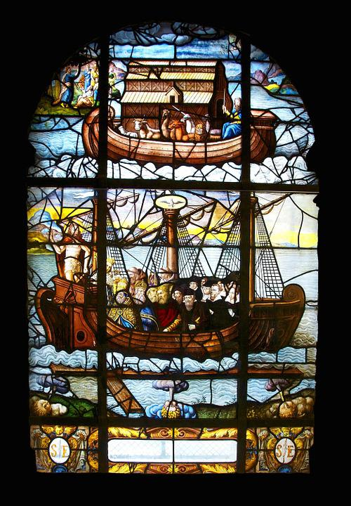 Noah'S Ark, Saint-Etienne-Du-Mont, Paris, Stained Glass