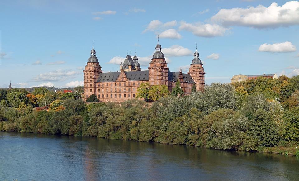 Castle Johannisburg, Aschaffenburg, Palace, Bayern