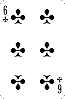 Clubs, Six, Deck, Playing Cards, Game