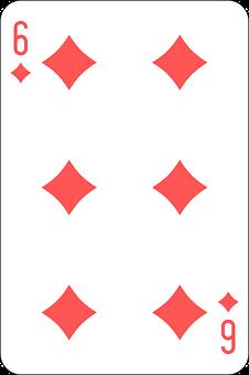 Diamonds, Six, Deck, Playing Cards, Game