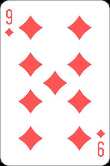 Diamonds, Nine, Deck, Playing Cards