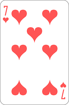 Hearts, Seven, Deck, Playing Cards, Game