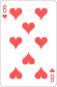 Hearts, Eight, Deck, Playing Cards, Game
