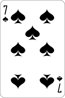 Spades, Seven, Deck, Playing Cards, Game