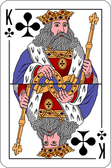 Clubs, King, Deck, Playing Cards, Game