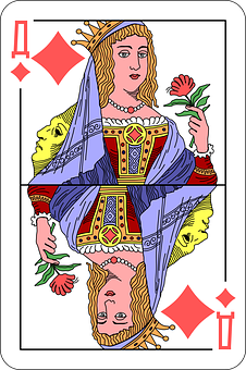 Diamonds, Queen, Deck, Playing Cards