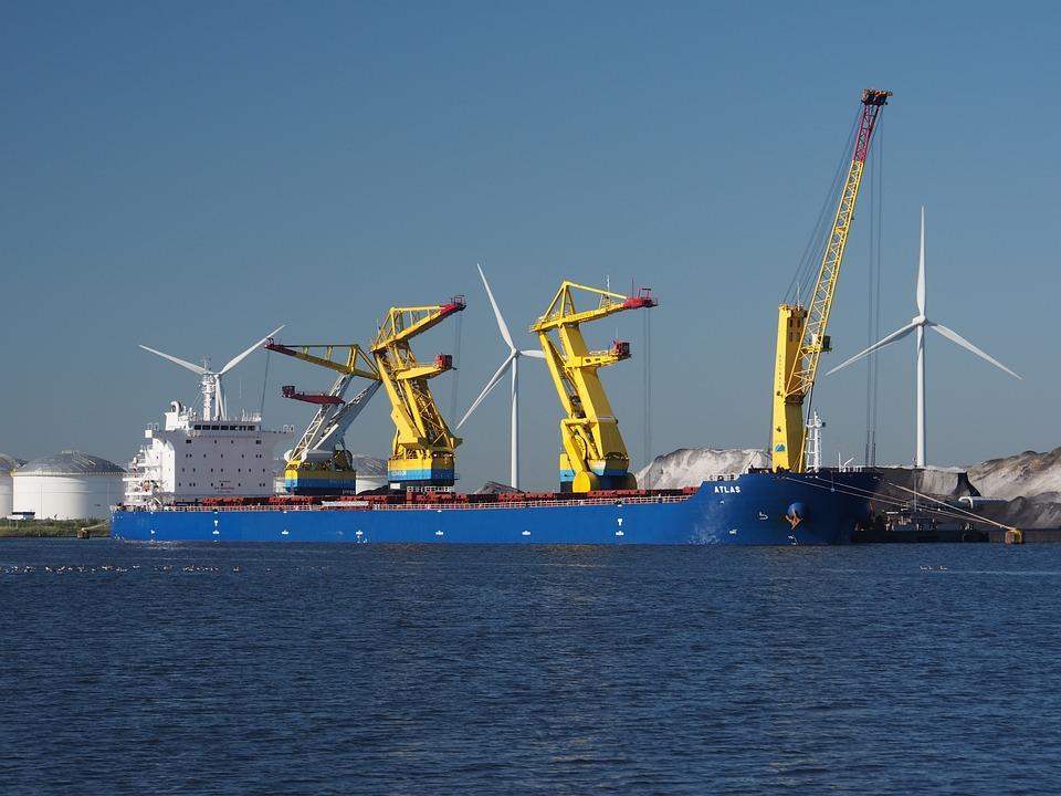 Atlas, Puerto, Amsterdam, Barco, Buque, Logística