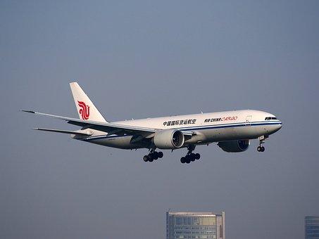 B-2095, 中国国際航空貨物, 航空機, 飛行機, 着陸, 空港, 交通
