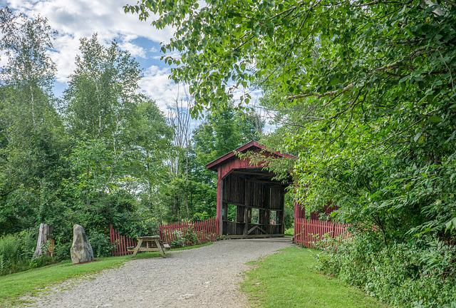Covered Bridge Rural Vermont 183 Free Photo On Pixabay