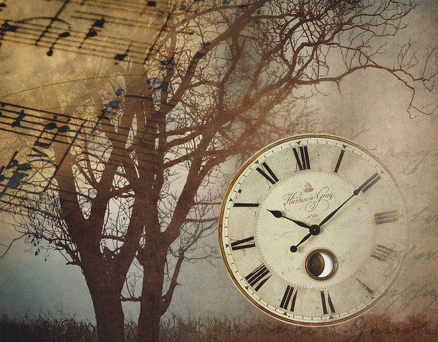 Clock Vintage Music · Free vector graphic on Pixabay