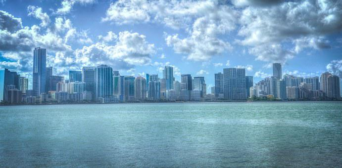 Miami, Florida, Cityscape, Water