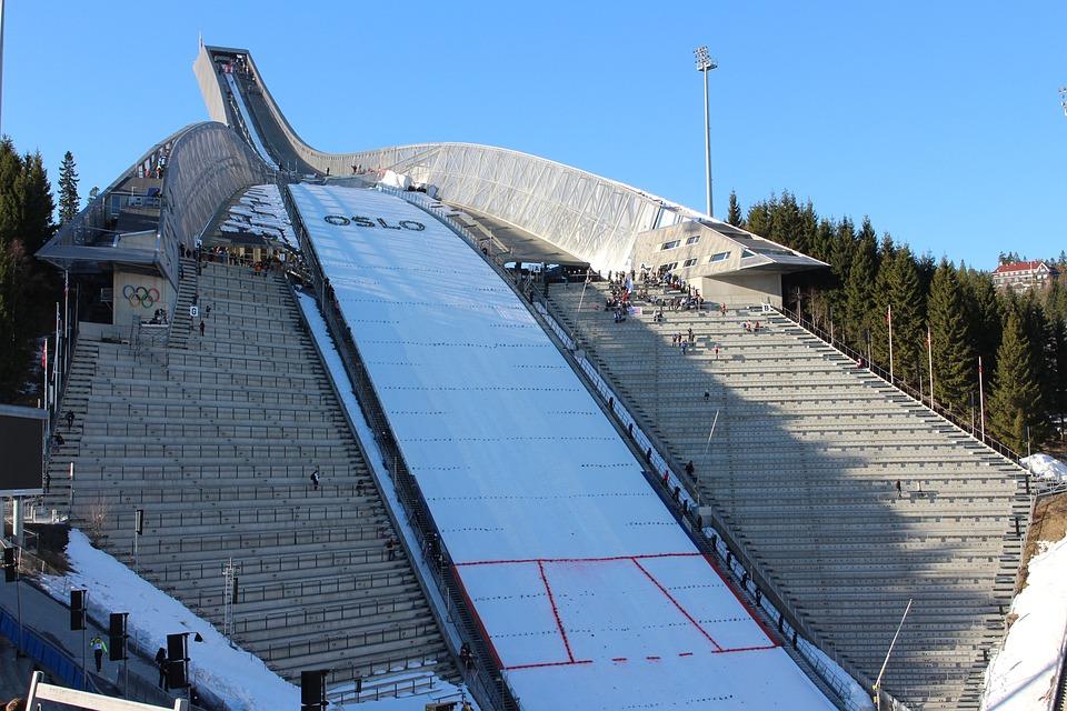 Die Holmenkollen Sprungschanze in Oslo