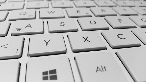 キーボード, コンピューター, キー, 白, Periphaerie