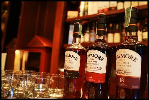 ボウモア, ウイスキー, シングル ・ モルト, アルコール, 飲みます, 精神