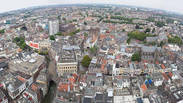 Utrecht, Holland, Campanile, Landschap