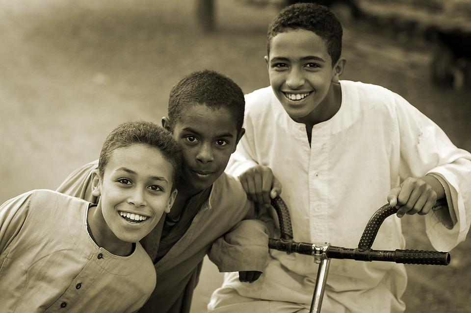 Children, Happy, Group, Friends, Brothers, Smile