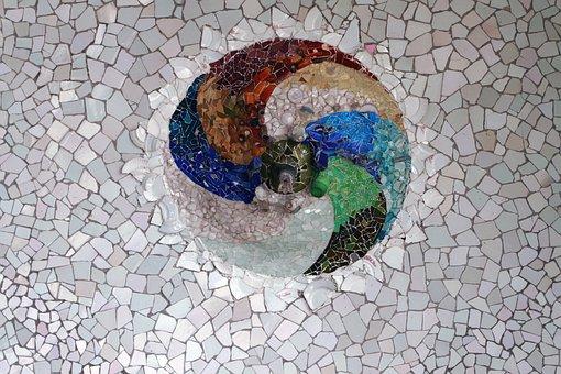 Park Guell Mosaic Tile Gaudi Texture Broke