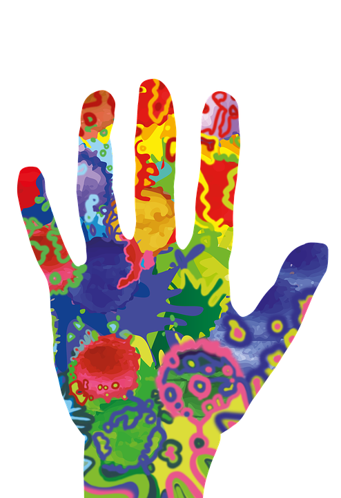 Free illustration hand colorful color artwork free for Watercolor paintings of hands