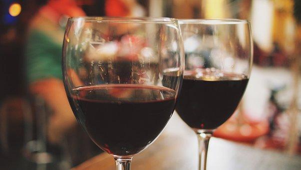 Wein, Gläser, Im Freien, Cafe