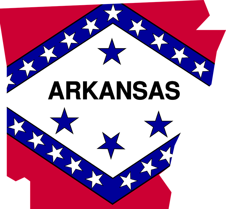 Free Vector Graphic Arkansas Flag Map Usa America Free - Arkansas in usa map