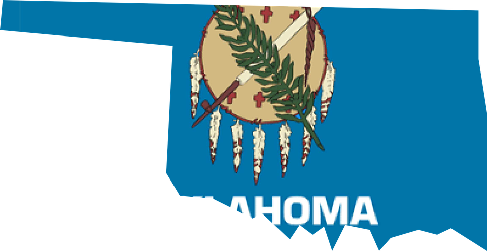 Free Vector Graphic Oklahoma Flag Map Usa America Free - Oklahoma map usa