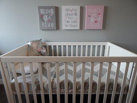 Crib, Nursery, Baby, Bedroom, Childhood