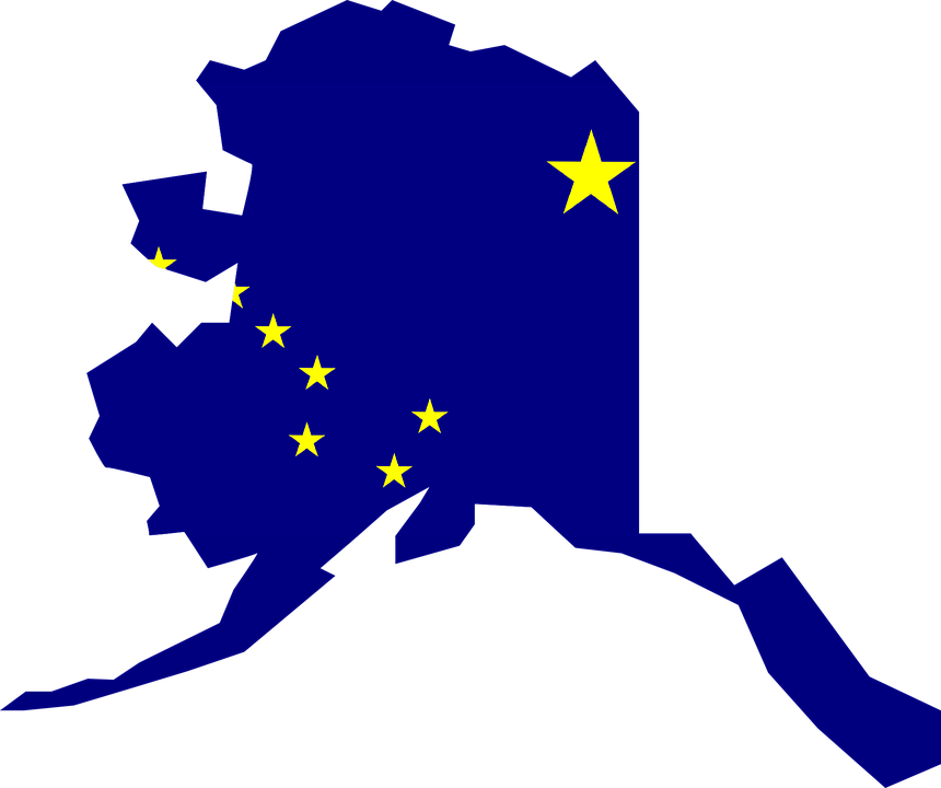 Free Vector Graphic Alaska Map Flag Usa Geography Free - Alaska map in usa