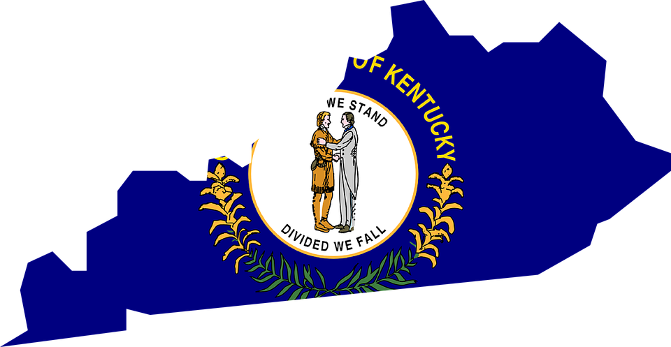 Free Vector Graphic Kentucky Map Usa State Flag Free Image - Kentucky map usa