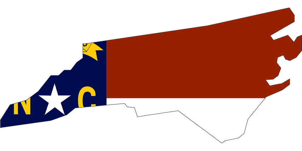 Free Vector Graphic North Carolina State Usa Flag Free Image - Us vector map on transparent back
