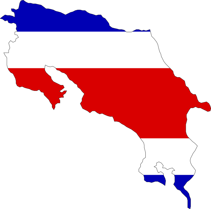Costa Rica Karte Mittelamerika.Costa Rica Mittelamerika Flagge Kostenlose Vektorgrafik Auf Pixabay