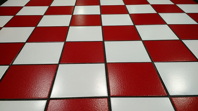 Free Photo Tile Red White Floor Glossy Image