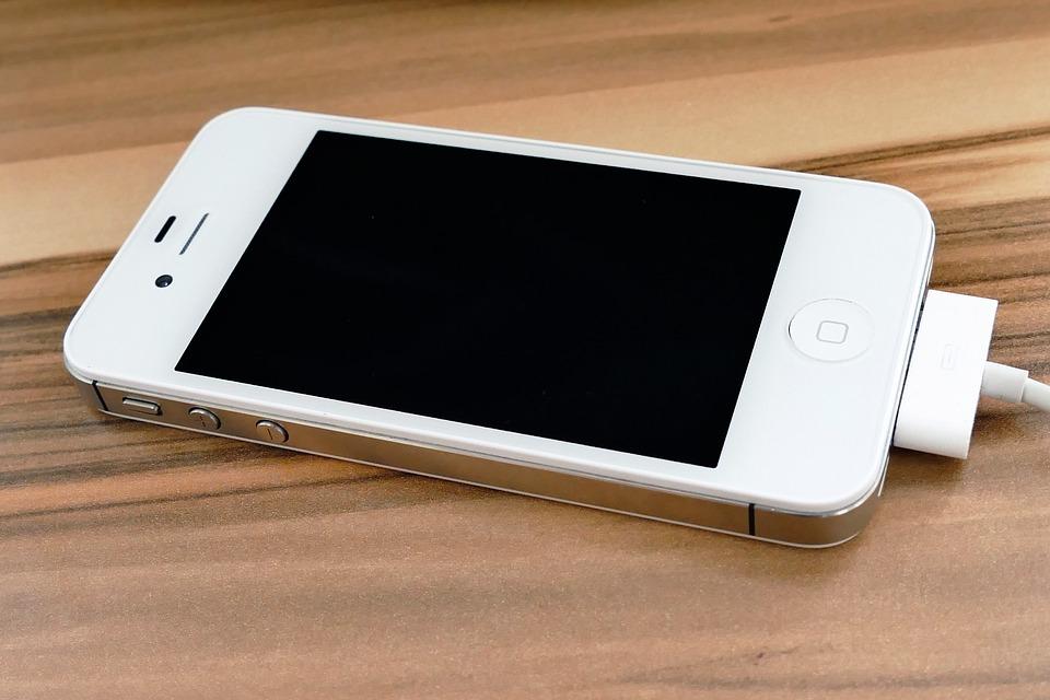 Iphone, 4S, Tela, Móveis, Tecnologia, Celular