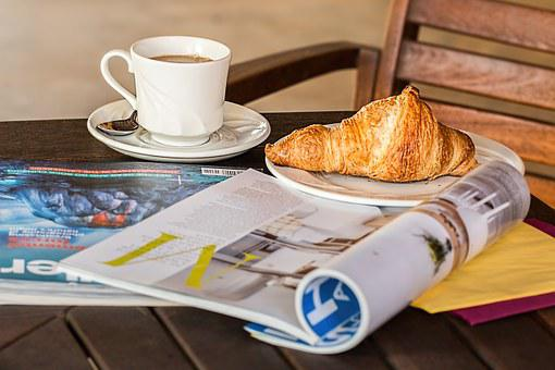Magazine, Coffee Break, Cup, Media, Read