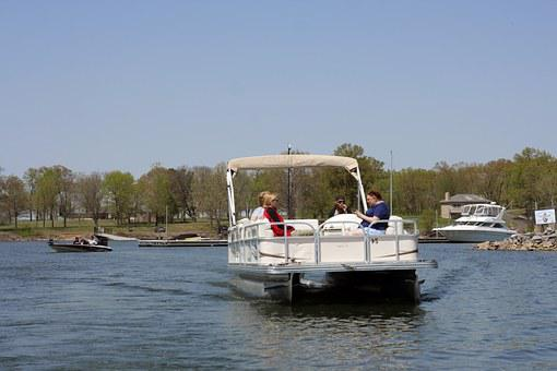 Pontoon, Boats, Boating, Summer