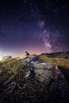 Milkyway, Estrellas, Cielo, Espacio