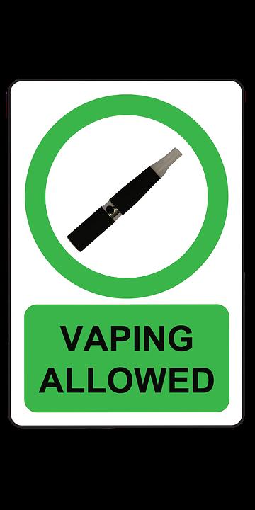 Vaping, Allowed, E Cig, Vaporizer, Green, Electronic