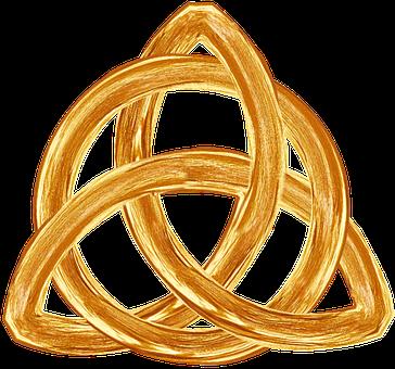 Trinity, Gold, Symbol, Trefoil, Religion