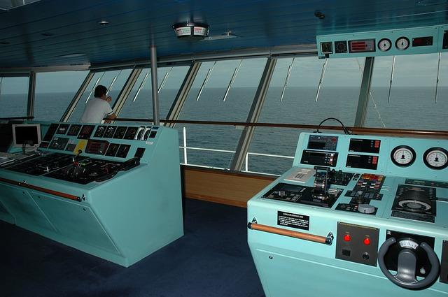 Free Photo Ship Command Deck Captain Marine Free