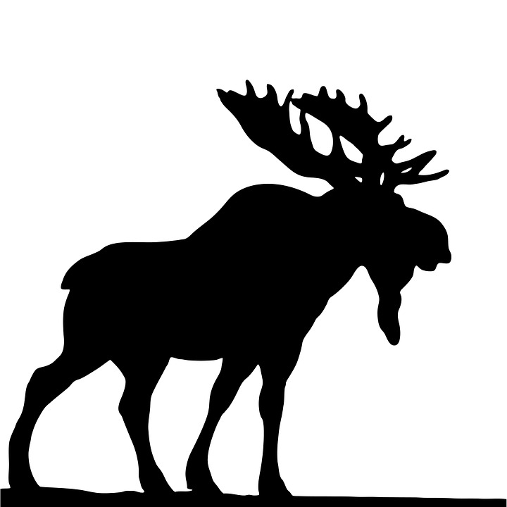 Free illustration: Moose, Black, Silhouette, Wild - Free ...