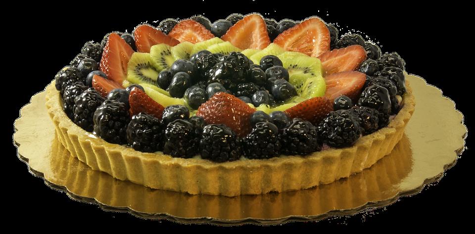 Vruchten, Tart, Dessert, Sweet, Voedsel, Taart