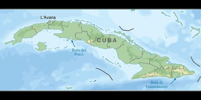 Schweinebucht, Kuba, Karte, Geographie