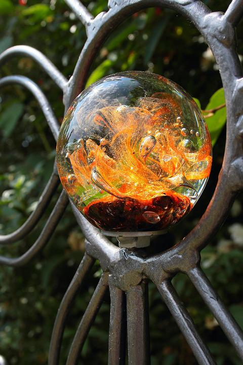 free photo: glass ball, metal frame, gartendeko - free image on, Garten ideen