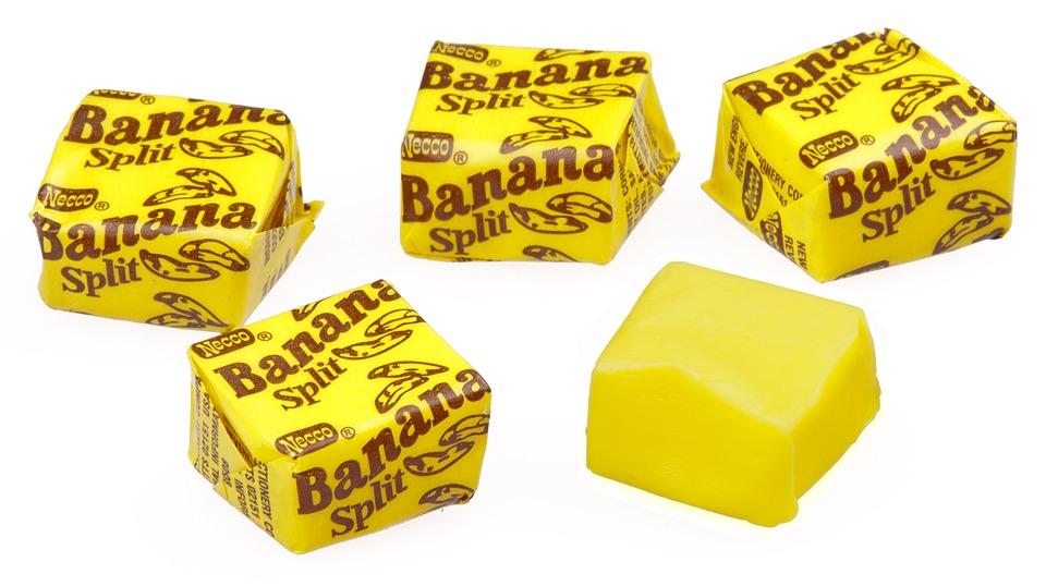 banana split godis