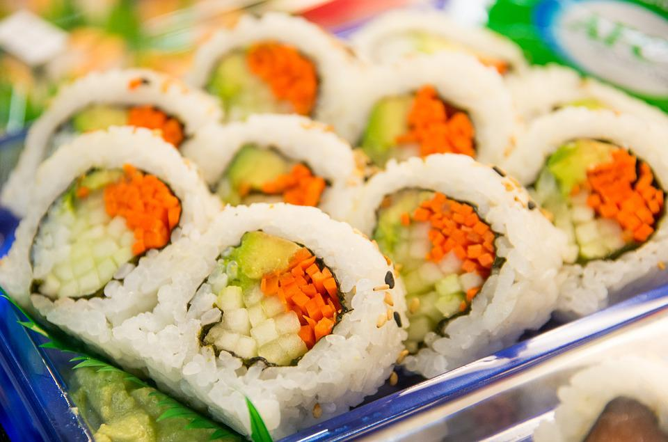 Free photo sushi roll fish japanese free image on for Best fish for sushi