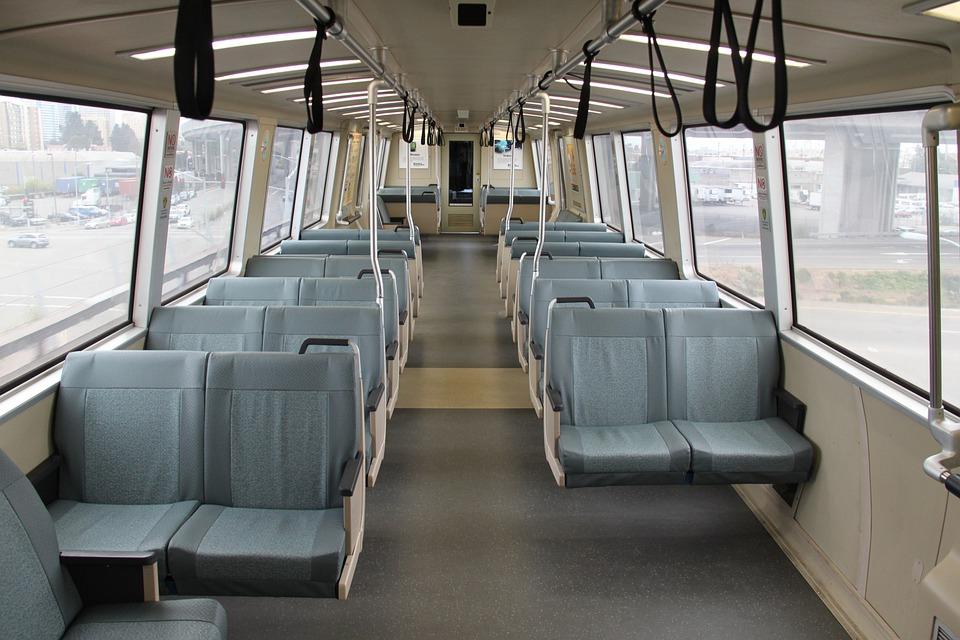 bart auto interieur trein doorreis zitplaatsen