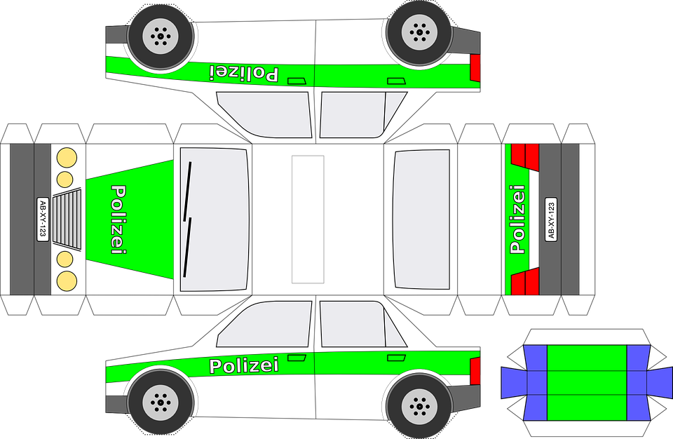 S Foldable Paper Car Template