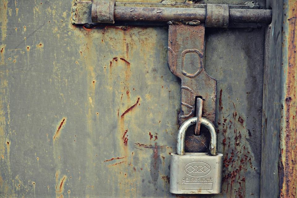 lock door. Lock Door Old Rust Bolt T