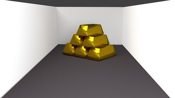 Zlatá, Pruhy, Cihly, 3D